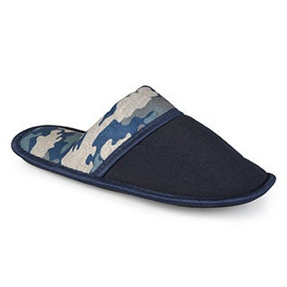 Vance Co. Men's Backless Camo Print Slippers