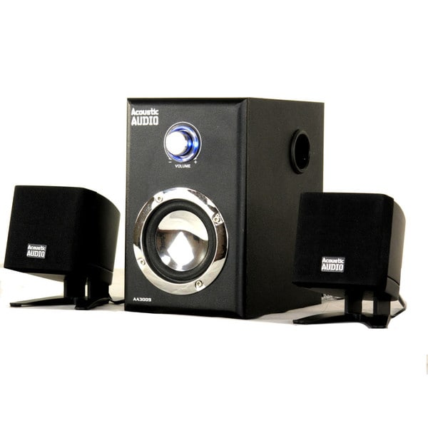 Acoustic Audio AA3009 200-watt 2.1-channel Powered Subwoofer Computer Speaker System