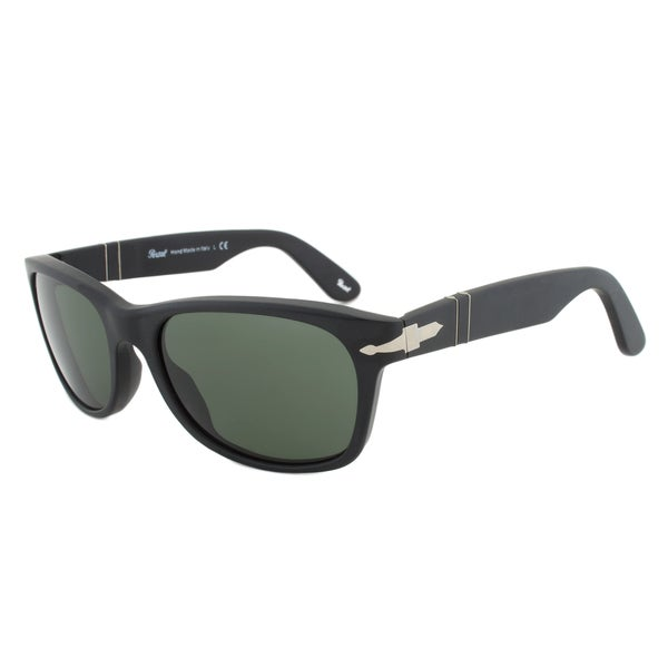 Persol PO2953S 900/31 Sunglasses in Matte Black Frame and Green-Grey Lenses