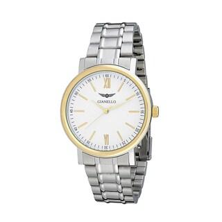 Gianello Men's Stainless Steel Stripe Bracelet Watch