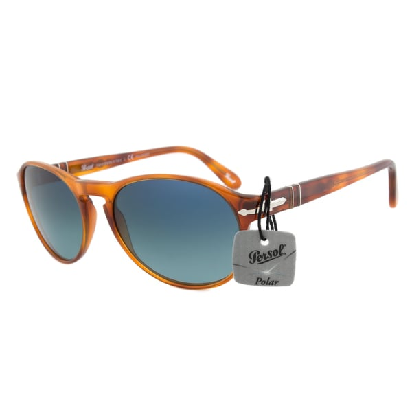 Persol PO2931S 96/S3 Terra Di Siena Polarized Sunglasses in Tortoise Frame and Blue Gradient Lenses