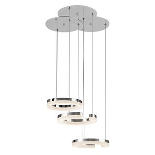 Kichler Lighting Andess Collection 3-light LED Chrome Contemporary Chandelier