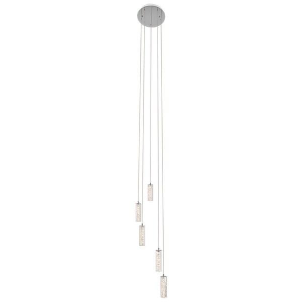 Kichler Lighting Neruda Collection 5-light LED Chrome Chandelier/Pendant Cluster