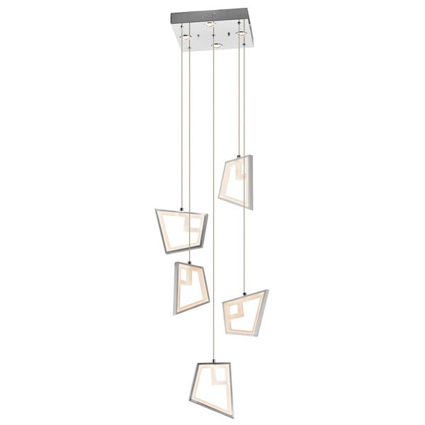 Kichler Lighting Zium Collection 5-light LED Chrome Chandelier/Pendant Cluster