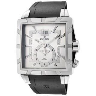 EDOX Classe Royale ED-62002 3 AIN Men's Black/ Silver 40mm Square Quartz Watch