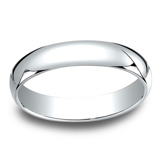18k White Gold 4mm Traditional Wedding Band