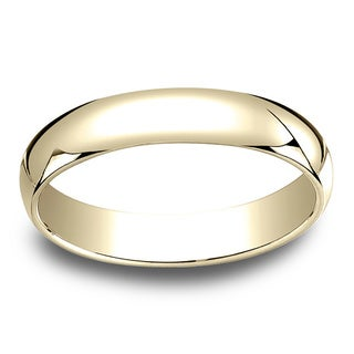 18k Yellow Gold Men's 4mm Traditional Wedding Band