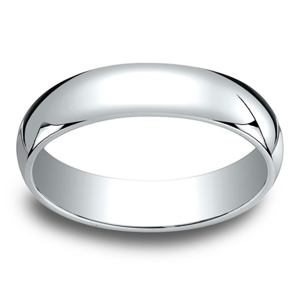 18k White Gold 5mm Traditional Wedding Band
