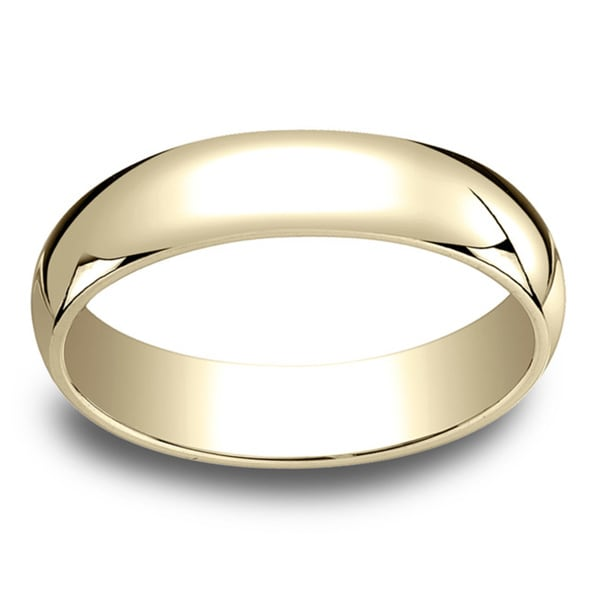 18k Yellow Gold 5mm Traditional Wedding Band