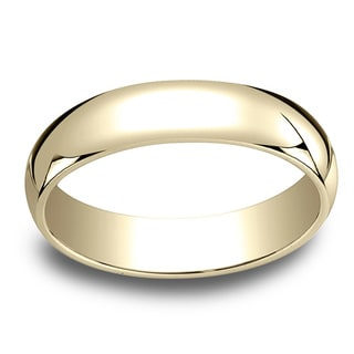18k Yellow Gold Men's 5mm Traditional Wedding Band
