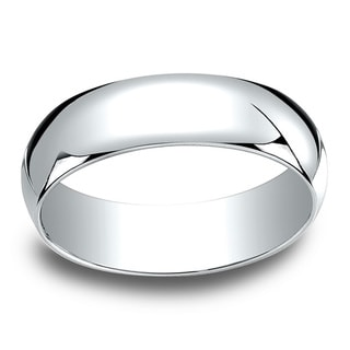 18k White Gold 6mm Traditional Wedding Band