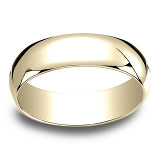 18k Yellow Gold Men's 6mm Traditional Wedding Band