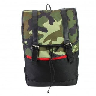 BJX Kids Camo Flap Rucksack Backpack