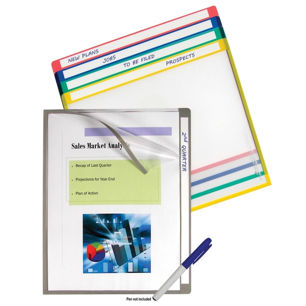 C-Line Products 10-piece Write-on Project Folders (Set of 5 Packs)