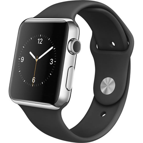 Apple Watch 42mm Stainless Steel Case Black Sports Band