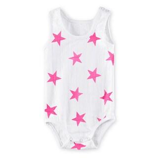 aden + anais Girls' Newborn Muslin Stars Tank Top Bodysuit