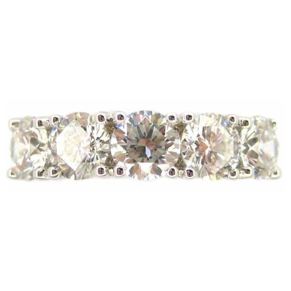 Kabella 18k White Gold 2 1/6ct TDW Diamond 5-stone Ring (G-H, SI1-SI2)
