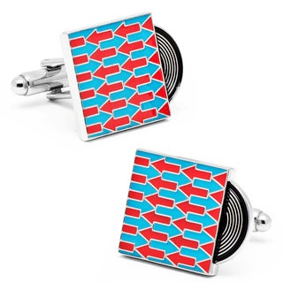 Silvertone My Way Record Cufflinks
