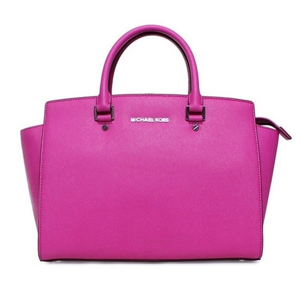 Michael Kors Selma Large Satchel - Fuschia