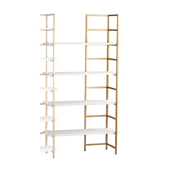 Sterling White and Gold Shelving Unit Extension