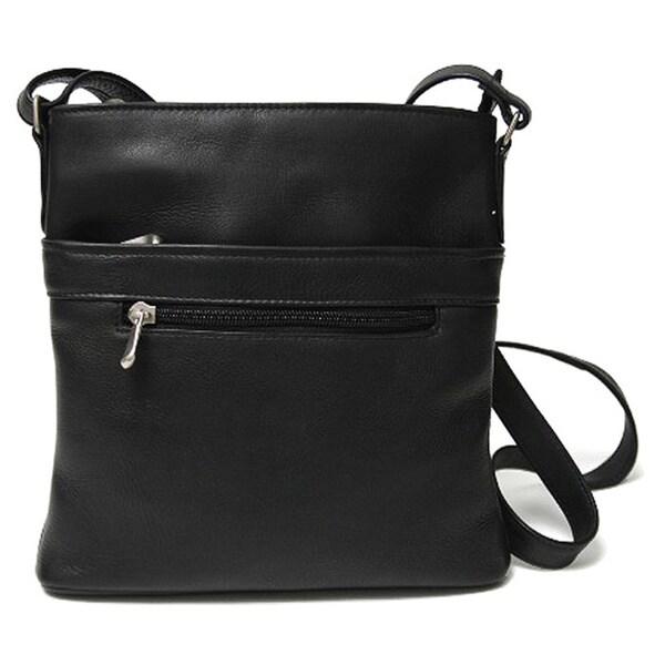 Royce Leather Colombian Genuine Leather Triple Zip Crossbody Bag 16448804