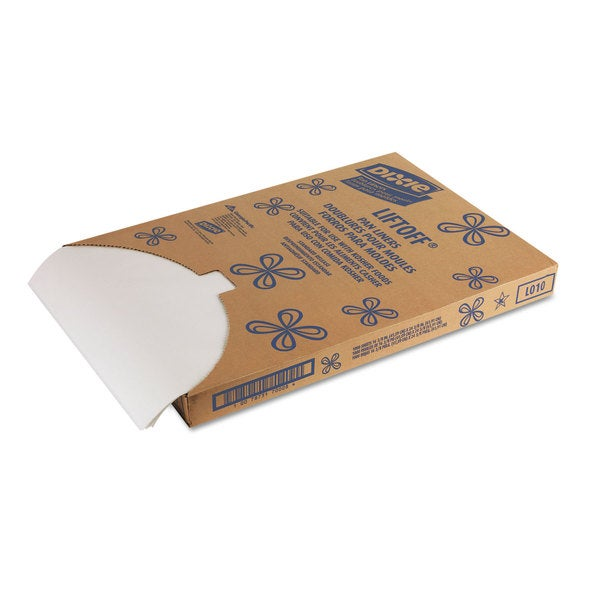 Dixie Greaseproof Liftoff White Pan Liners (1 Pack of 1000 Pan Liners)