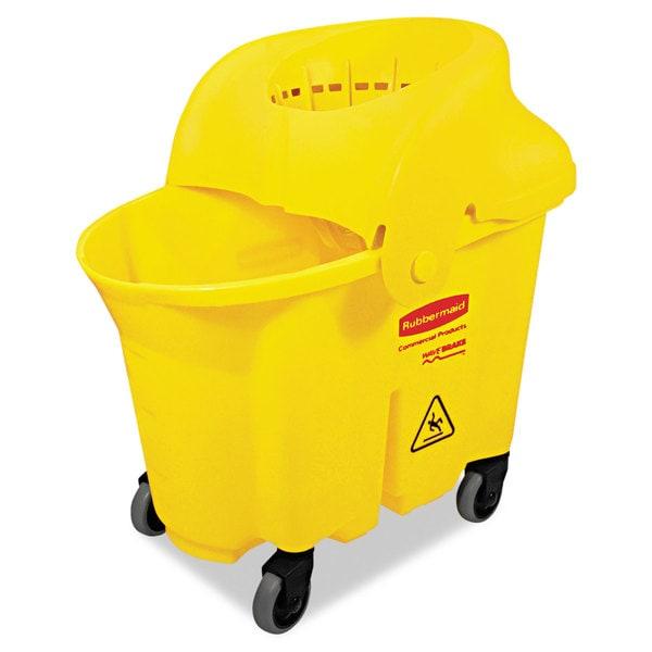 Rubbermaid Commercial WaveBrake Institutional Yellow Bucket/Strainer Combo