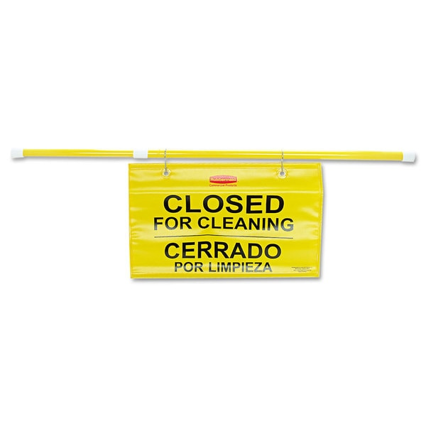 Rubbermaid Commercial Yellow Multi-Lingual Site Safety Hanging Sign