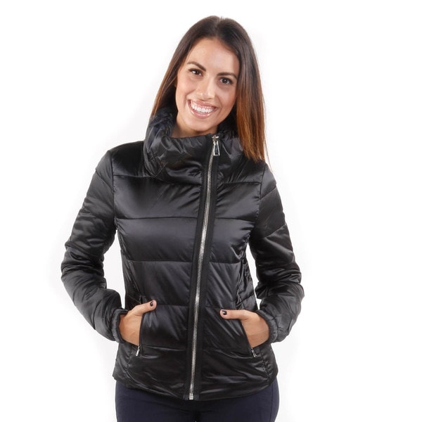 Hadari Women's Puffy Long Sleeve Zip Front Jacket