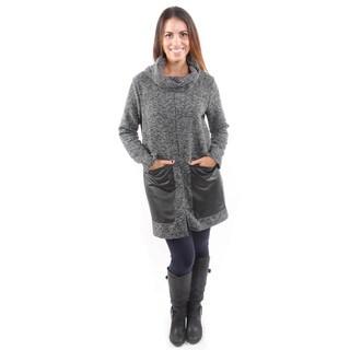 Hadari Women's Pull Over Sweater w/ Contrast Pockets