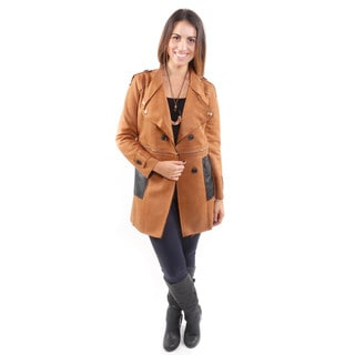 Hadari Women's Convertible Suede Trench Coat