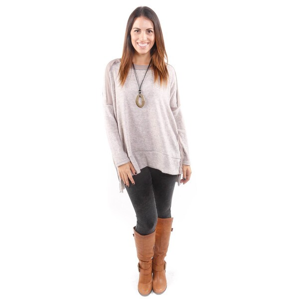 Hadari Women's Boxy Sweater W/ Fabric Detail