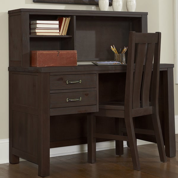 Highlands Collection Driftwood Desk And Hutch 17730684