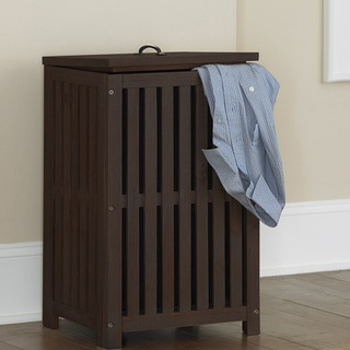 NE Kids Highlands Espresso Clothes Hamper