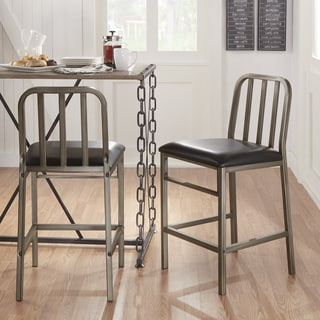 TRIBECCA HOME Blake Steel Counter-height Dining Chair (Set of 2)