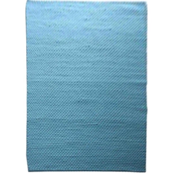 Textured Solid Pattern Blue/Blue Wool (5 x 8) Area Rug