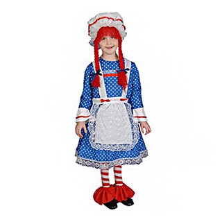 Dress Up America Deluxe Rag Doll T4 Costume Set