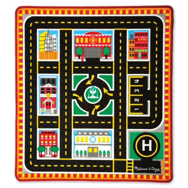 Melissa & Doug Round The City Rescue Rug