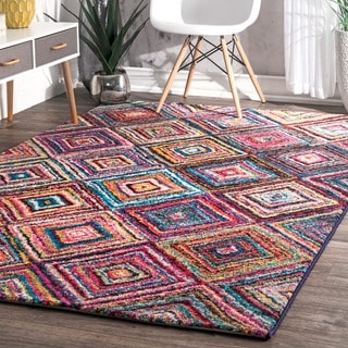 nuLOOM Contemporary Endless Windows Multi Kids Rug (4'1 x 6')