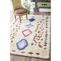 nuLOOM Handmade Moroccan Colorful Diamonds Shag Multi Rug (7'6 x 9'6)