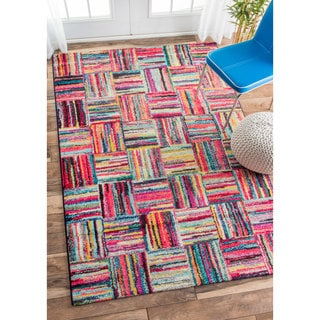 nuLOOM Retro Basket Weave Pattern Multi Kids Rug (9' x 12')