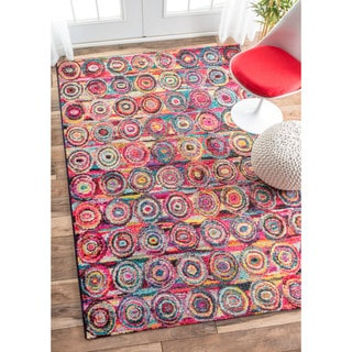 nuLOOM Retro Concentric Circles Multi Kids Rug (9' x 12')