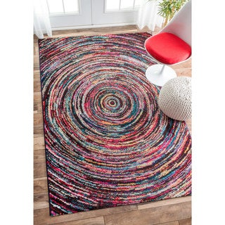 nuLOOM Retro Rippling Whirlpool Multi Kids Rug (9' x 12')
