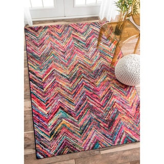 nuLOOM Retro Rainbow Chevron Multi Rug (9' x 12')