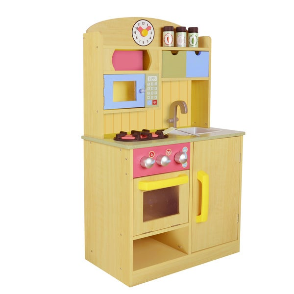Teamson Kids Little Chef Burlywood Kitchen with Accessories