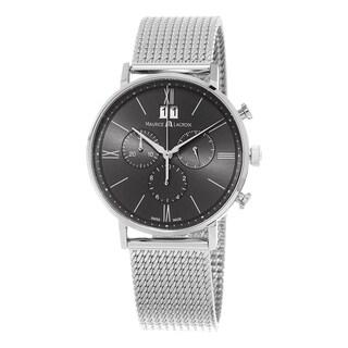 Maurice Lacroix Men's EL1088-SS002-811 'Eliros' Grey Dial Stainless Steel Mesh Bracelet Chronograph Swiss Quartz Watch