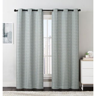 VCNY Crowley Foamback Grommet Curtain Panel Pair