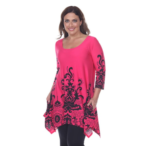 Women's Plus Size 'Yanette' Tunic Top