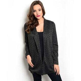 Shop the Trends Women's Long-Sleeve Leopard Print Jacket