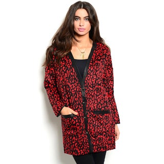 Shop the Trends Women's Long Sleeve Animal Print Cardigan